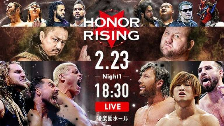 NJPW/ROH Honor Rising Results (February 23 and February 24) from Tokyo, Japan