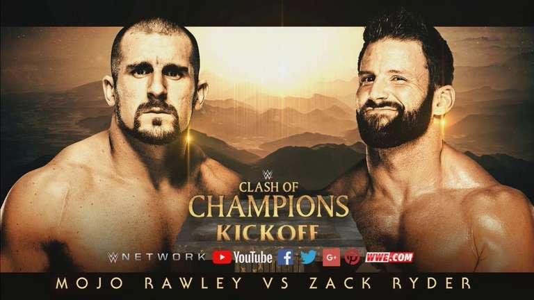Zack Ryder contre Mojo Rawley Set pour Clash of Champions coup d'envoi Afficher