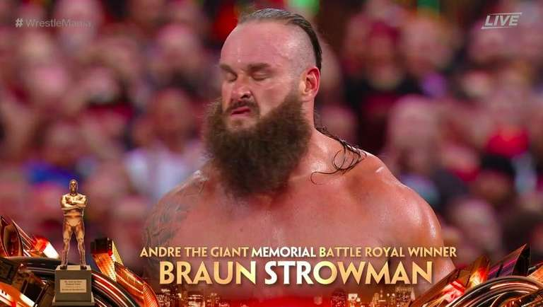 Wwe wrestlemania 35 results braun strowman wins andre the giant battle royal - Braun strowman theme ...