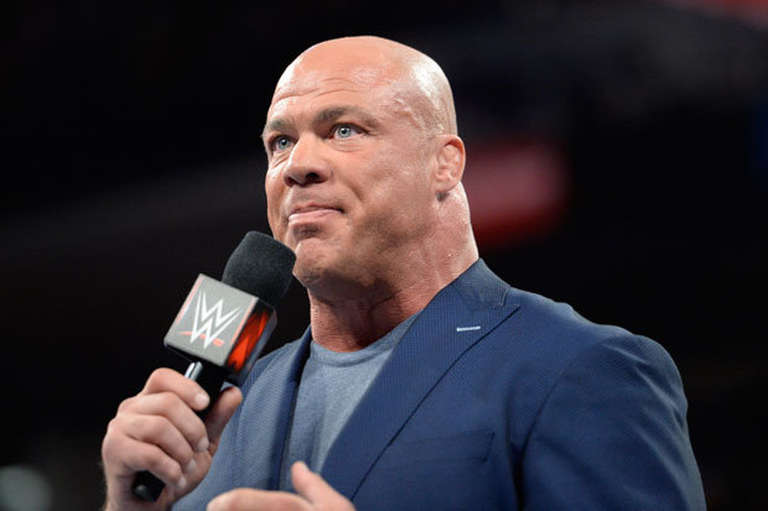 why was kurt angle forced to take a sabbatical as raw
