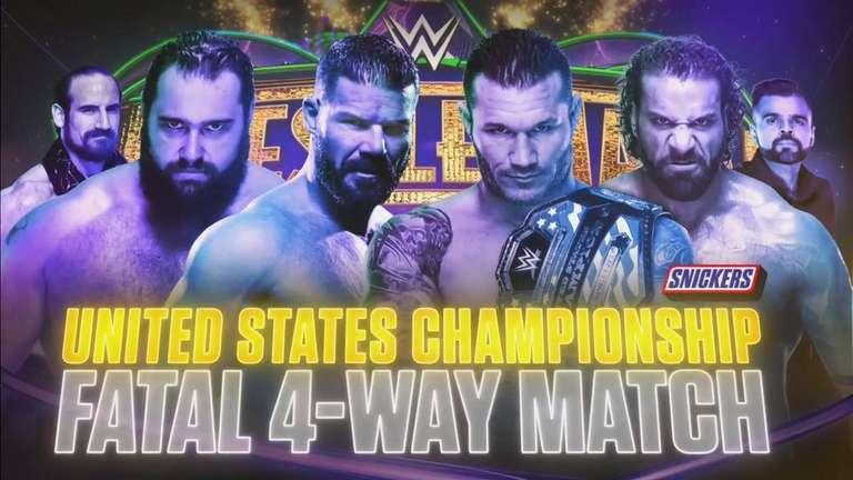 Championnat des États-Unis Match à WrestleMania 34 Maintenant un match 4-Way fatal