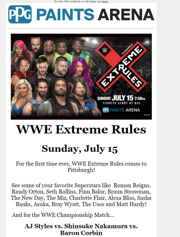 SPOILER concernant WWE Extreme Rules WWE Title Match