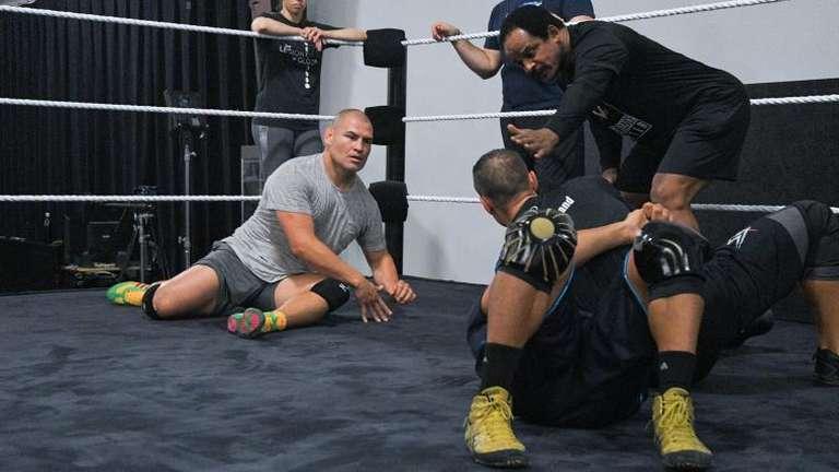 Former UFC Champion Cain Velasquez Trains At WWE Performance Center