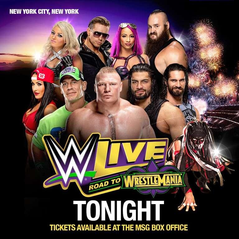 WWE Live: Road To WrestleMania Results From Madison Square