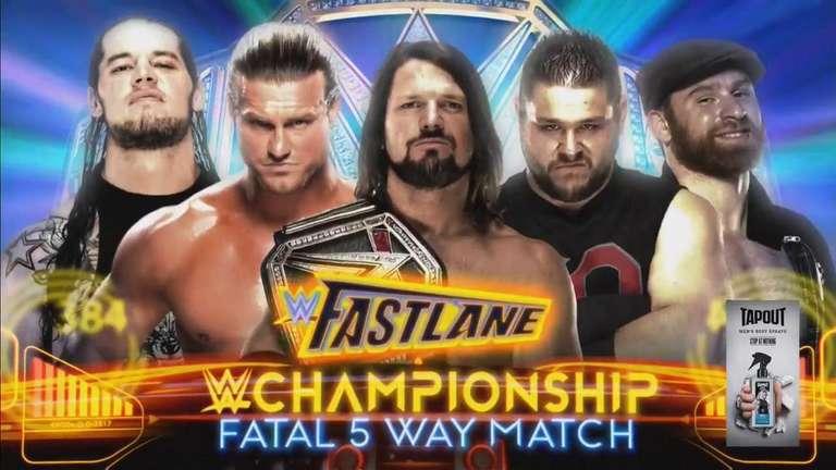 Fatal WWE Championship 5-Way match Set pour WWE Fastlane