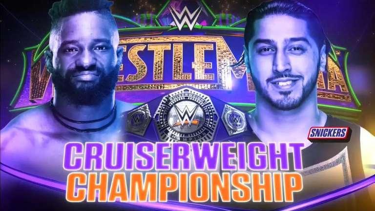 WWE Cruiserweight Championship Match Set for WrestleMania 34: Cedric Alexander vs. Mustafa Ali